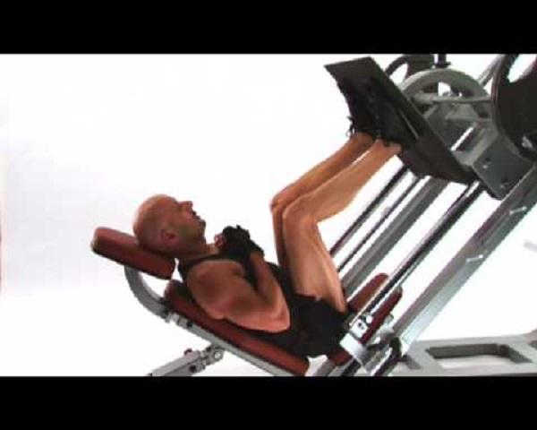Prensa de piernas inclinada-demostración