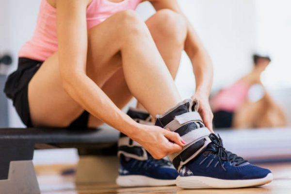 Accesorios para poder entrenar en casa pesas tobillos