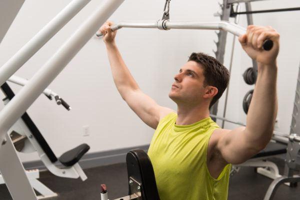Remo cuello remo al menton diferentes variantes musculos que trabajan