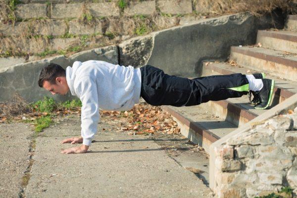 Estiramientos para los hombros flexiones