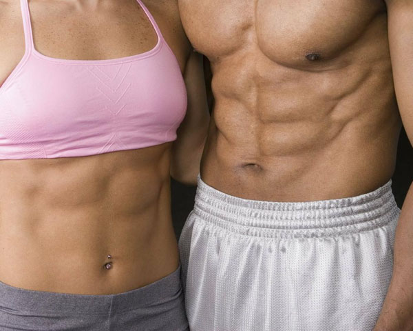 Marcar zona abdominal pectoral