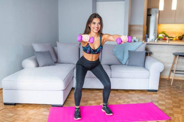 Accesorios para poder entrenar en casa mancuernas