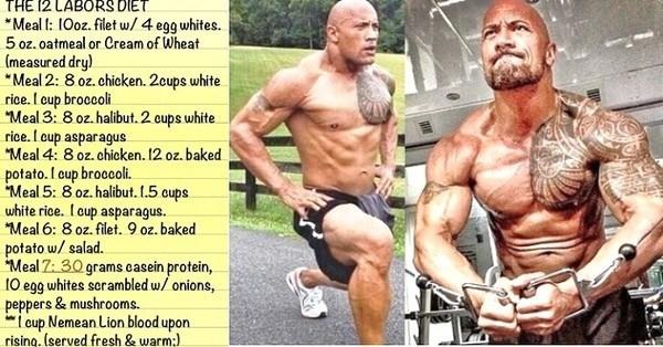 como-conseguir-los-abdominales-del-protagonista-de-hercules-dwayne-johnson-dieta