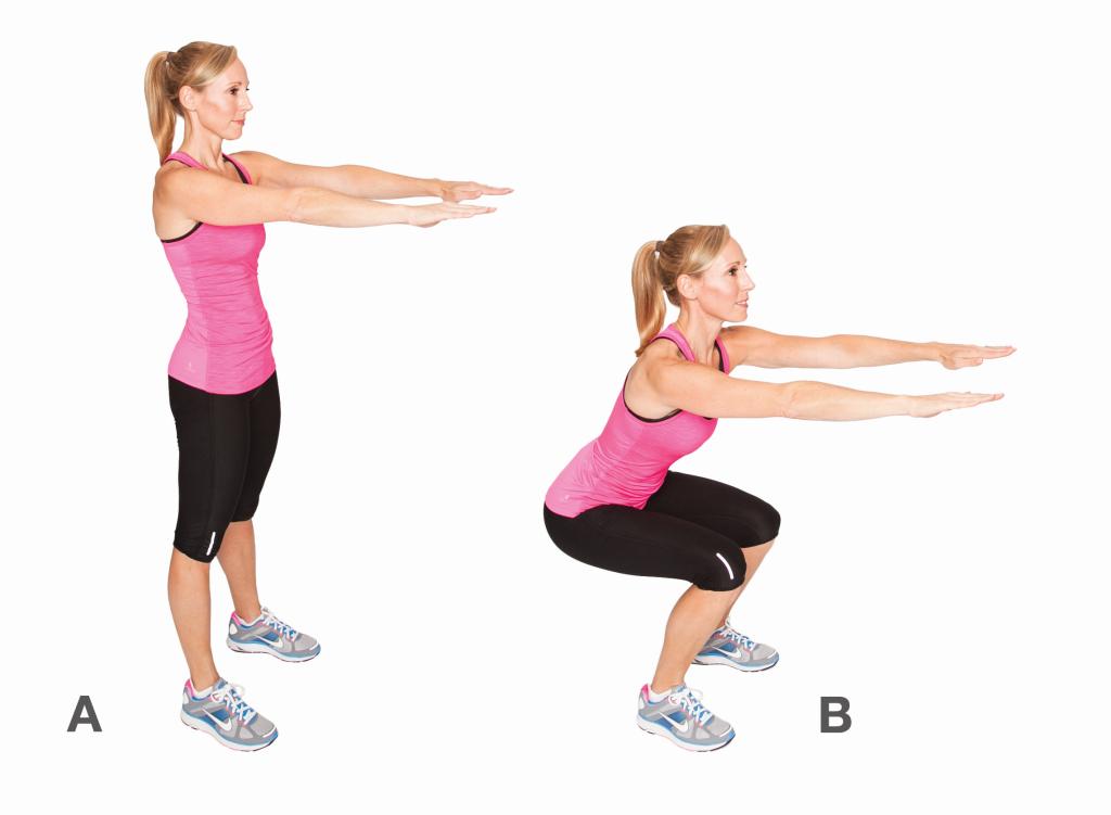 ejercicios-para-perder-barriga-hiit-sentadilla