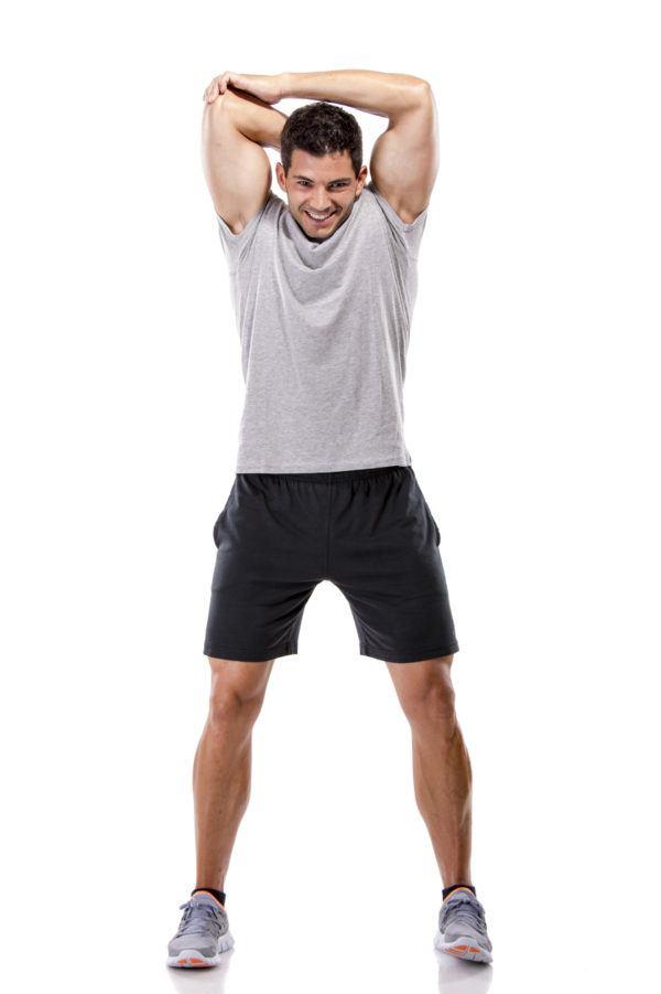 Estiramientos para todo el cuerpo para brazos detras de la cabeza