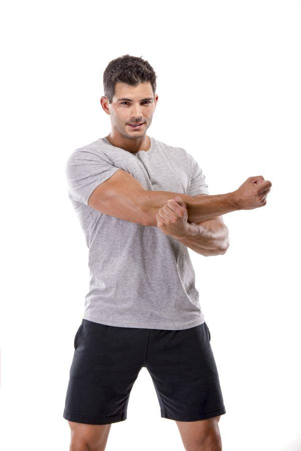 Estiramientos para todo el cuerpo para brazos triceps