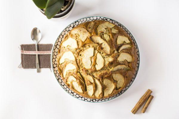 Los mejores postres proteicos bizcocho manzana